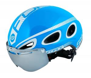 Kask aerodynamiczny FORCE Blue Hornet Triathlon
