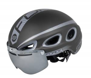 Kask aerodynamiczny FORCE Black Hornet Triathlon
