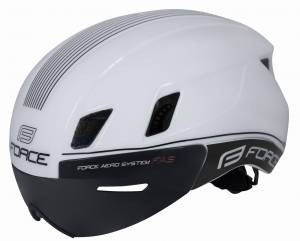 Kask aerodynamiczny FORCE WORM White Triathlon aero