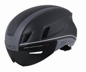 Kask aerodynamiczny FORCE WORM Black Triathlon aero