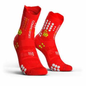 Skarpety do biegania TRAIL COMPRESSPORT trailowe ProRacing Socks v3.0 czerwone skarpetki